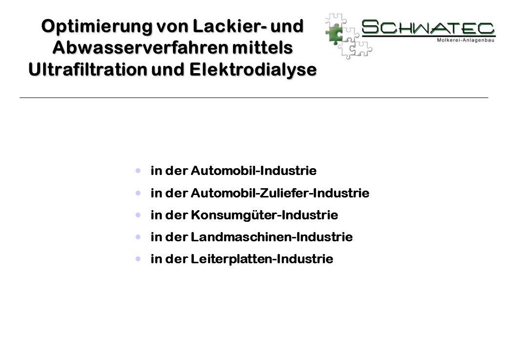 in der Automobil-Industrie in der Automobil-Zuliefer-Industrie in der Konsumgüter-Industrie in der Landmaschinen-Industrie in der Leiterplatten-Indust