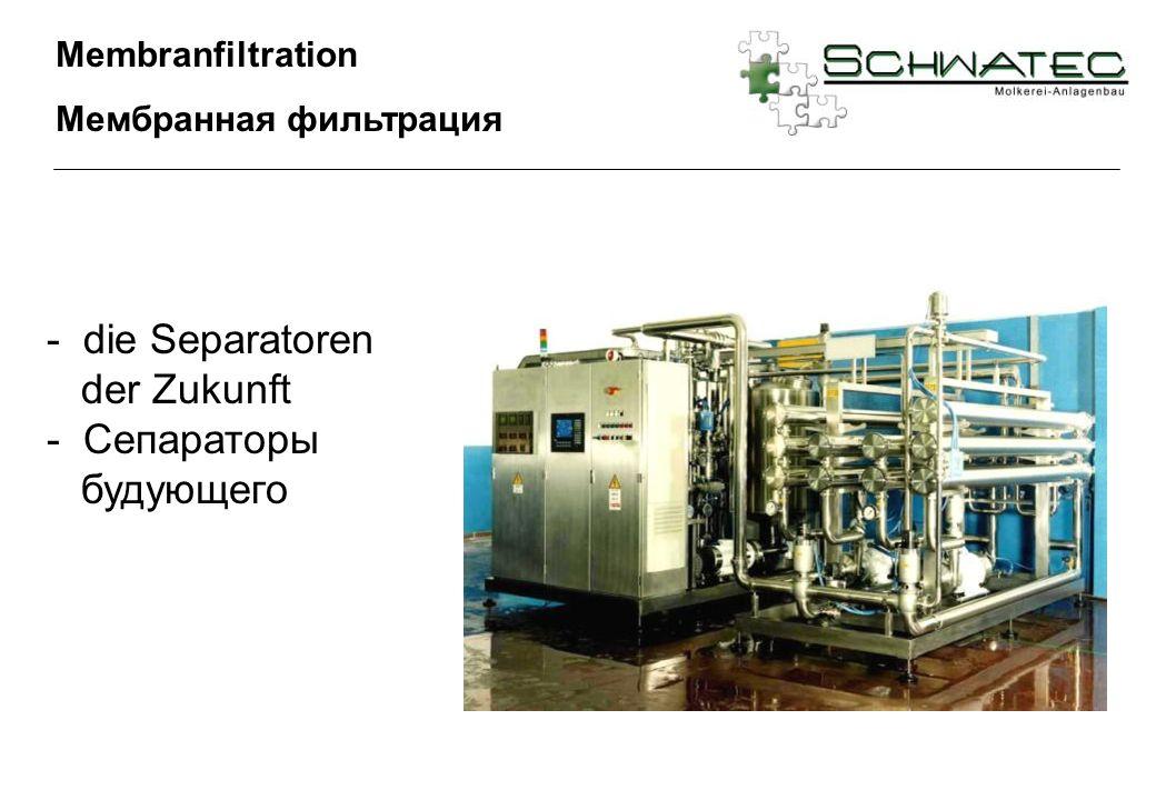 Membranfiltration Мембранная фильтрация - die Separatoren der Zukunft - Сепараторы будующего