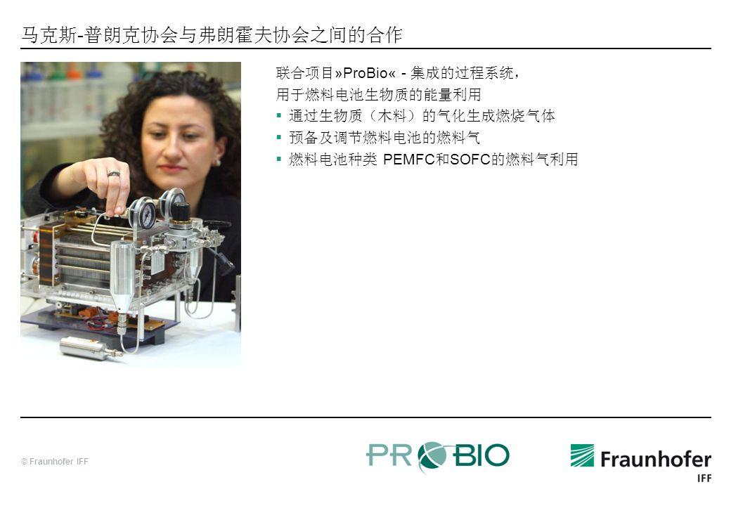 © Fraunhofer IFF - »ProBio« - PEMFC SOFC