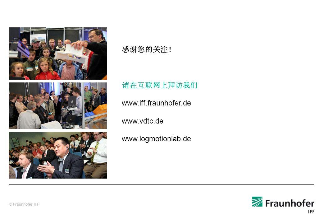 © Fraunhofer IFF www.iff.fraunhofer.de www.vdtc.de www.logmotionlab.de