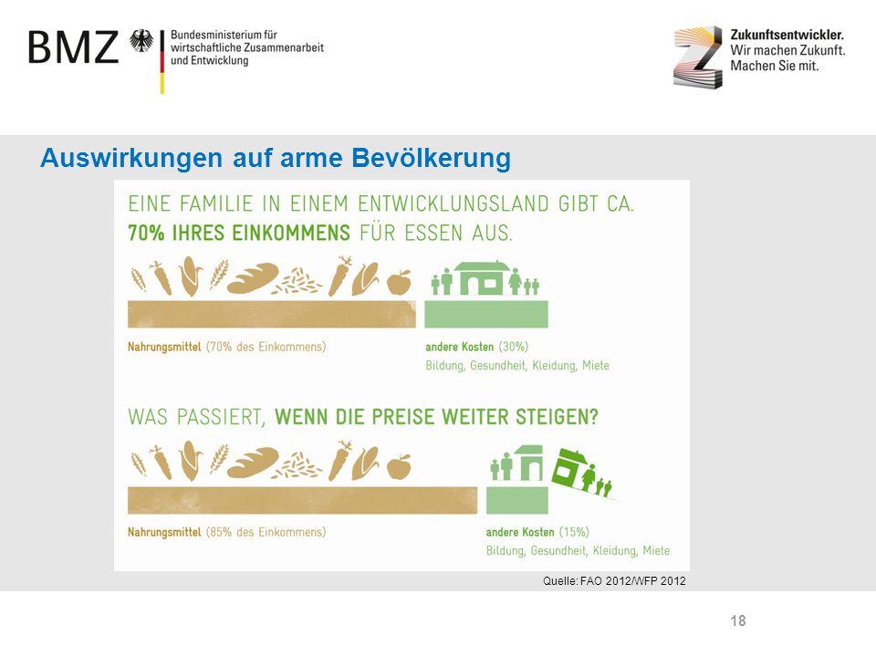 Page 18 Auswirkungen auf arme Bevölkerung Quelle: FAO 2012/WFP 2012 18