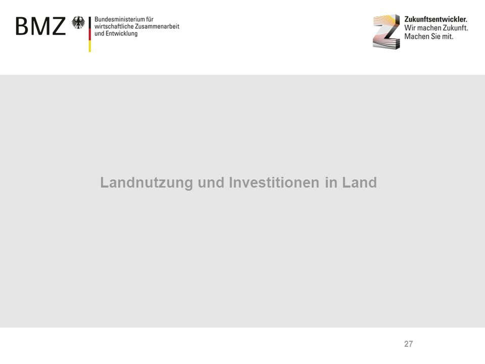 Page 27 Landnutzung und Investitionen in Land 27