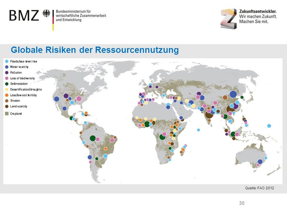 Page 30 Quelle: FAO 2012 Globale Risiken der Ressourcennutzung 30