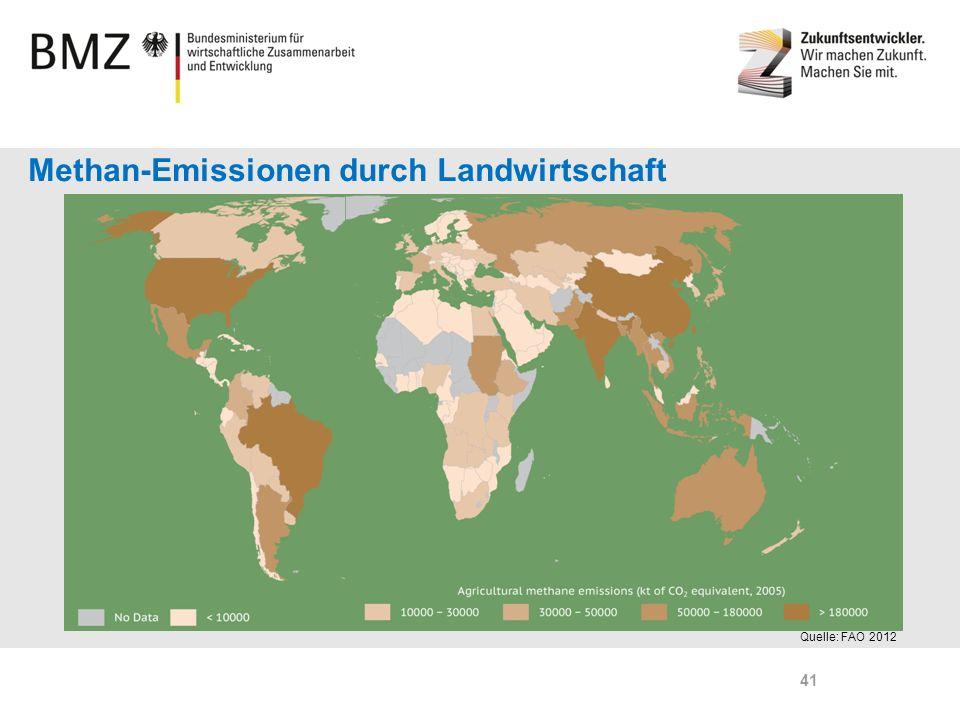 Page 41 Quelle: FAO 2012 Methan-Emissionen durch Landwirtschaft 41