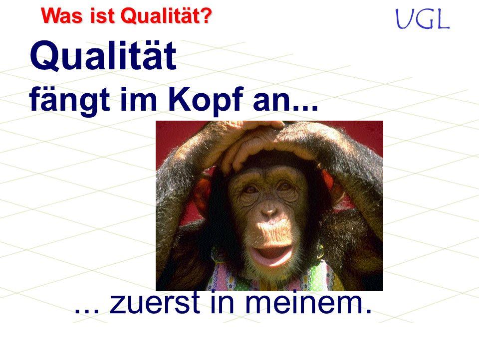 UGL Was ist Qualität? Qualität LieferfähigkeitPreis Kundenzufriedenheit wird erreicht durch: