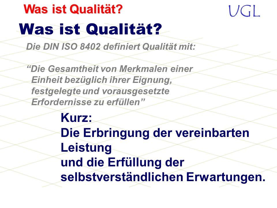 UGL Was ist Qualität?... zuerst in meinem. Qualität fängt im Kopf an...