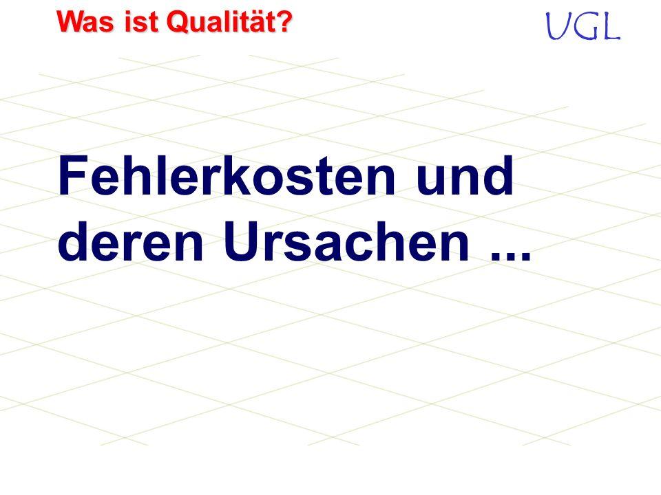 UGL Was ist Qualität? Was ist ein Kunde? Ein Kunde ist die wichtigste Person in unserem Unternehmen, gleich ob er persönlich da ist, schreibt oder tel