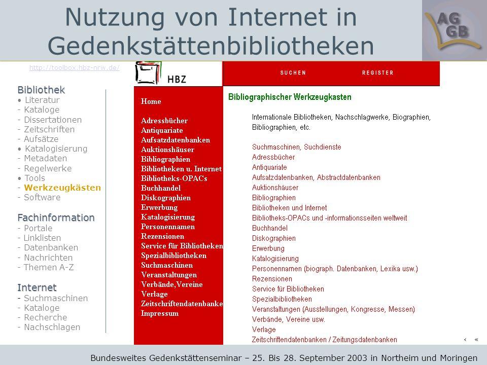http://toolbox.hbz-nrw.de/ Bundesweites Gedenkstättenseminar – 25.