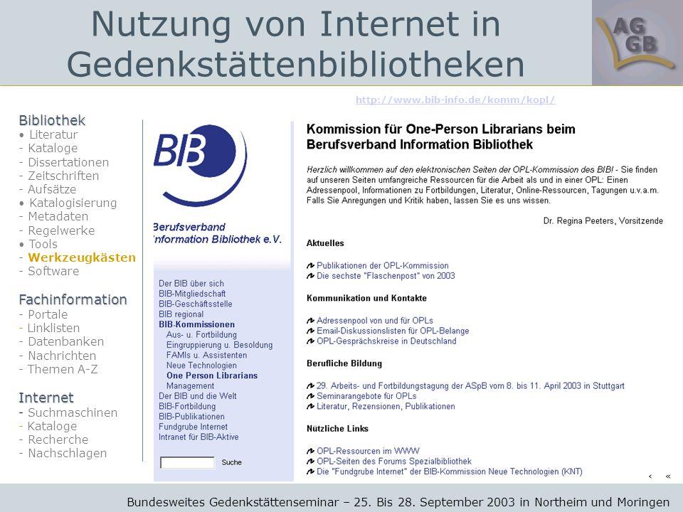 http://www.bib-info.de/komm/kopl/ Bundesweites Gedenkstättenseminar – 25.