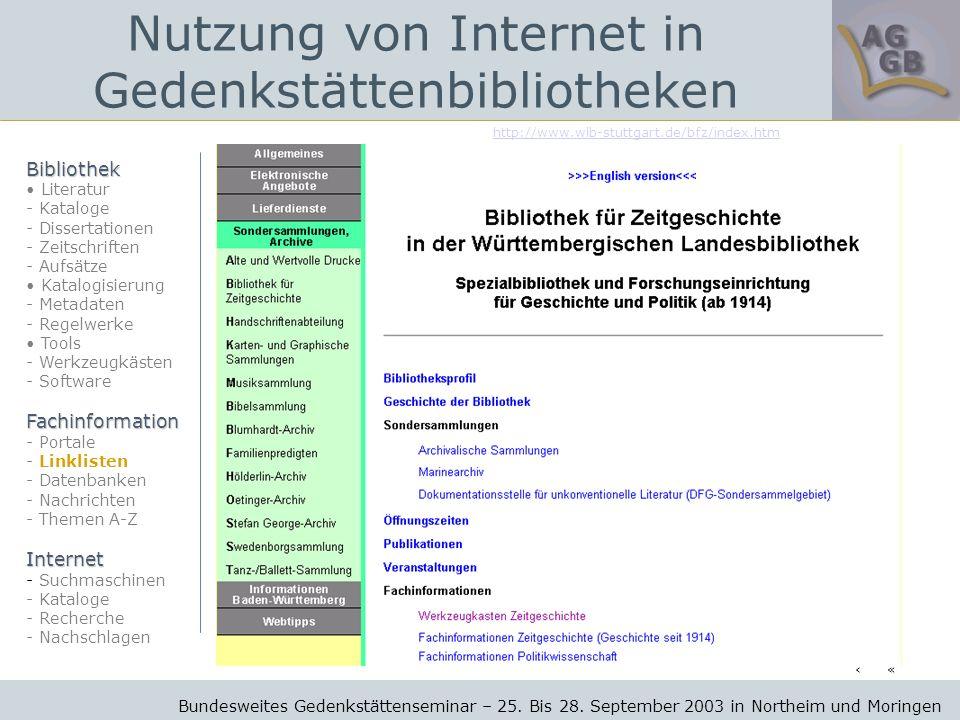 http://www.wlb-stuttgart.de/bfz/index.htm Bundesweites Gedenkstättenseminar – 25.