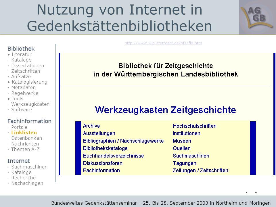 http://www.wlb-stuttgart.de/bfz/fia.htm Bundesweites Gedenkstättenseminar – 25.