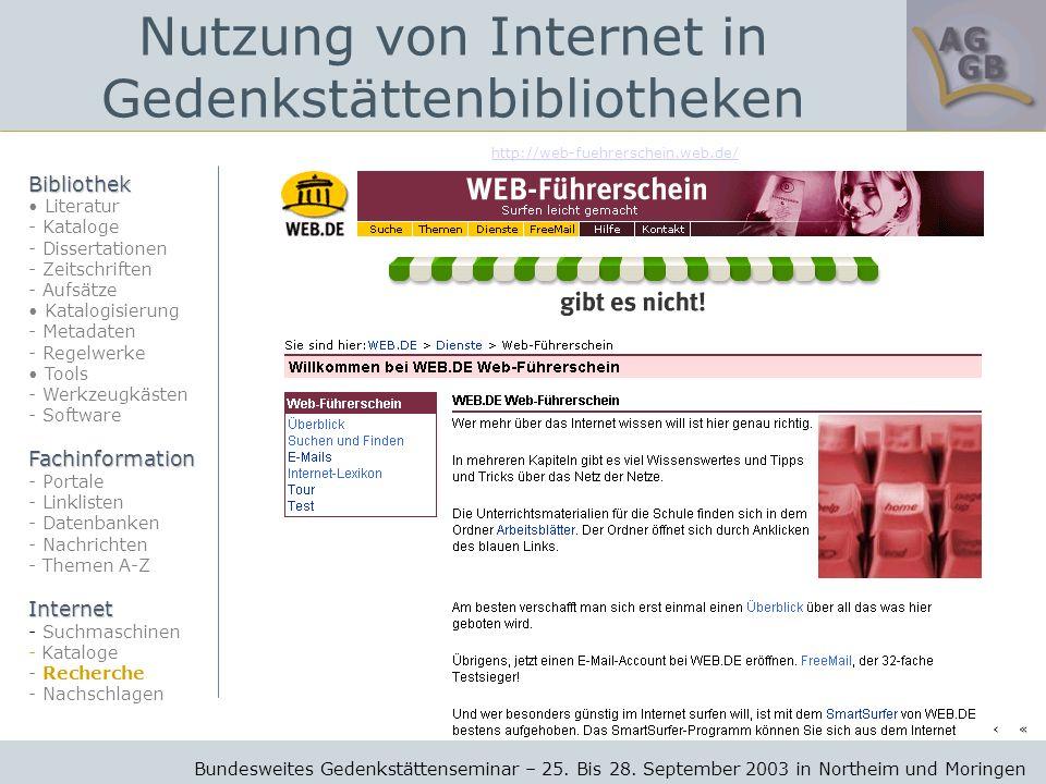 http://web-fuehrerschein.web.de/ Bundesweites Gedenkstättenseminar – 25.