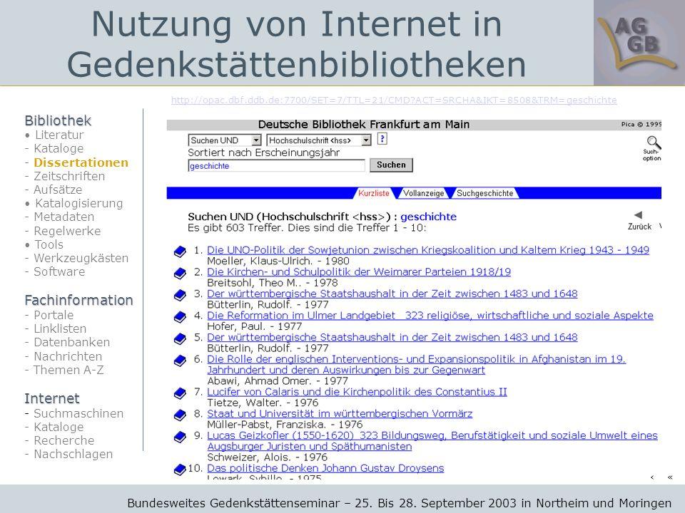 http://opac.dbf.ddb.de:7700/SET=7/TTL=21/CMD ACT=SRCHA&IKT=8508&TRM=geschichte Bundesweites Gedenkstättenseminar – 25.