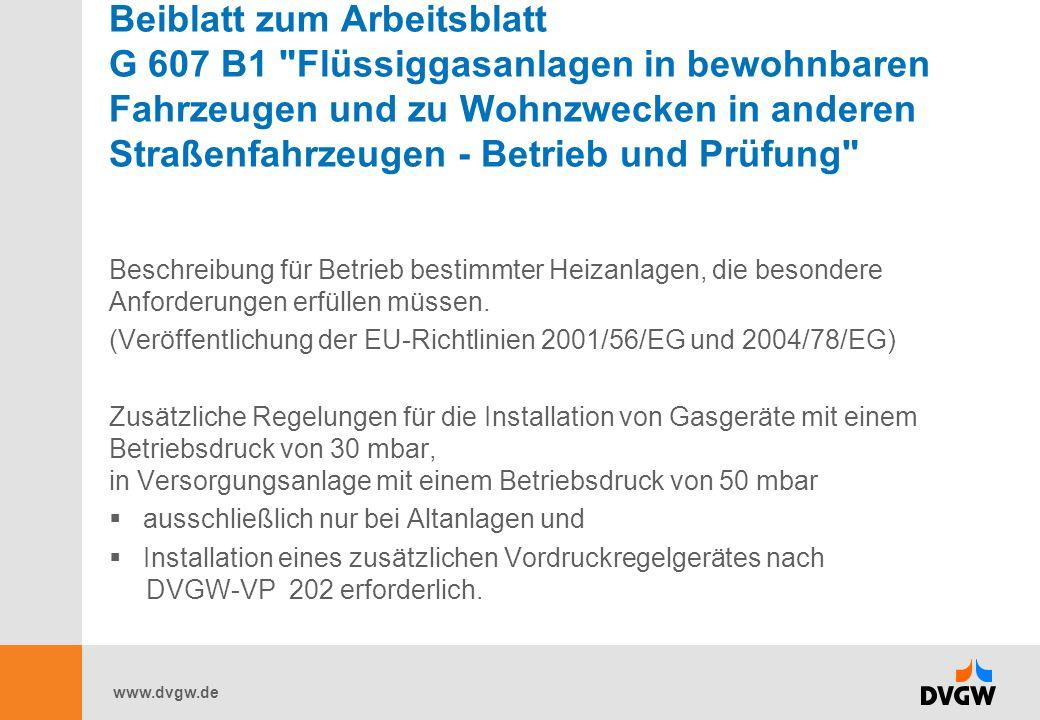 www.dvgw.de Beiblatt zum Arbeitsblatt G 607 B1