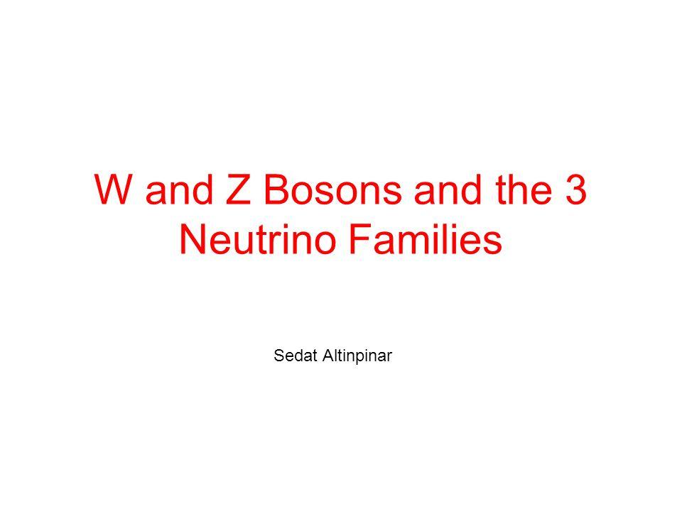 Nachweis von W ± e ± + ν e Das W zerfällt in zwei Teilchen, ein hochenergetisches e ± (oderMyon) und ein Neutrino.