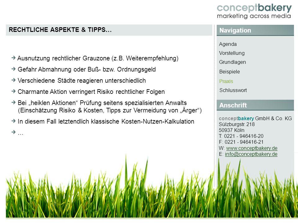 Navigation conceptbakery GmbH & Co. KG Sülzburgstr.
