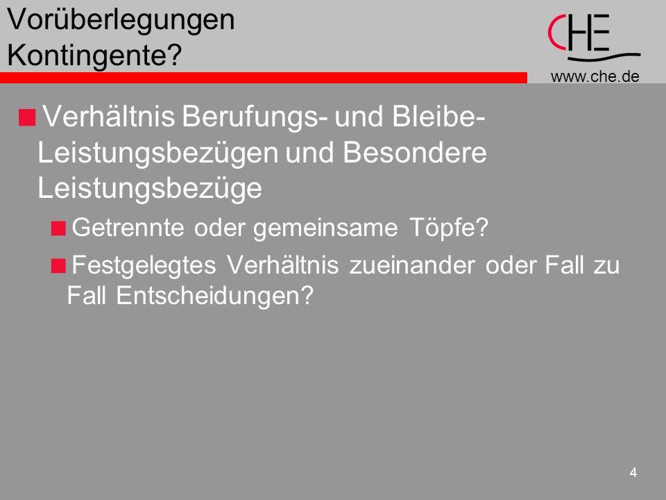 www.che.de 5 Vorüberlegungen Spreizung.Verteilung bzw.