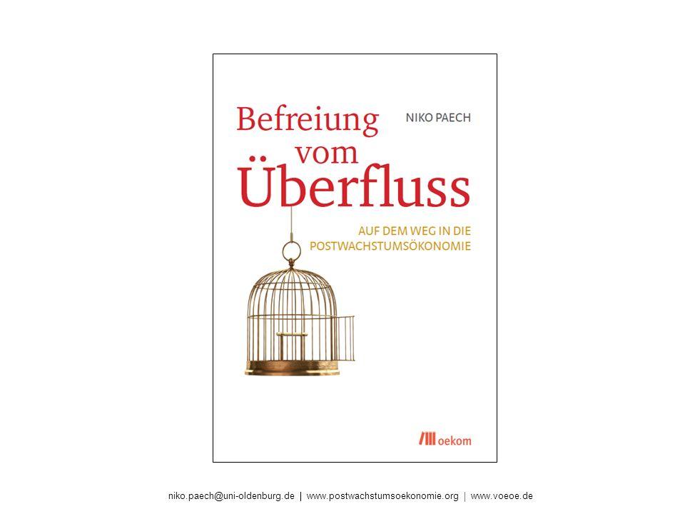 niko.paech@uni-oldenburg.de www.postwachstumsoekonomie.org www.voeoe.de