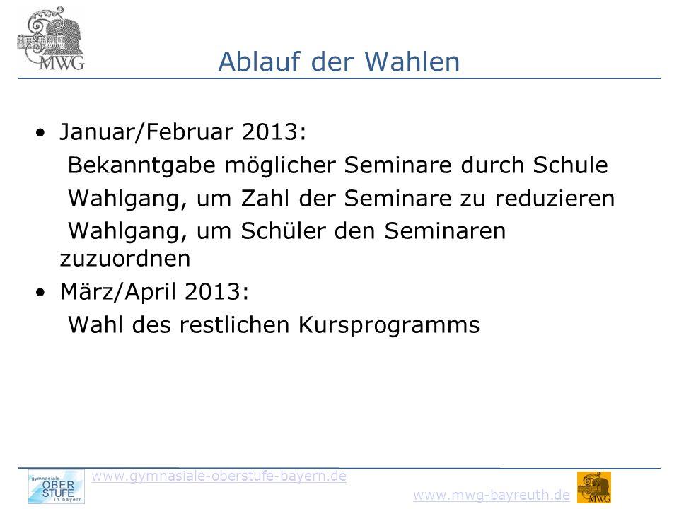 www.gymnasiale-oberstufe-bayern.de www.mwg-bayreuth.de Wahlformular