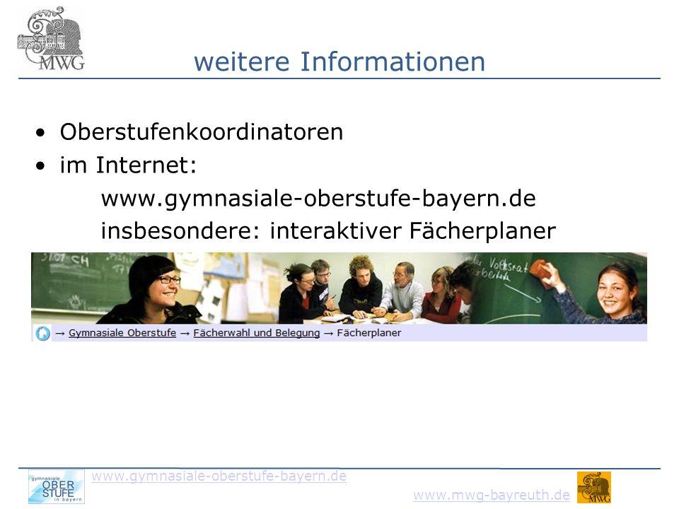 www.gymnasiale-oberstufe-bayern.de www.mwg-bayreuth.de Vielen Dank für die Aufmerksamkeit