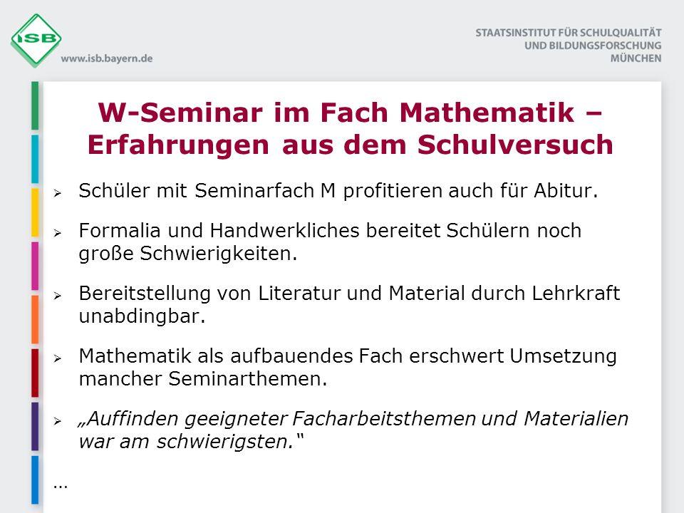Schüler mit Seminarfach M profitieren auch für Abitur.