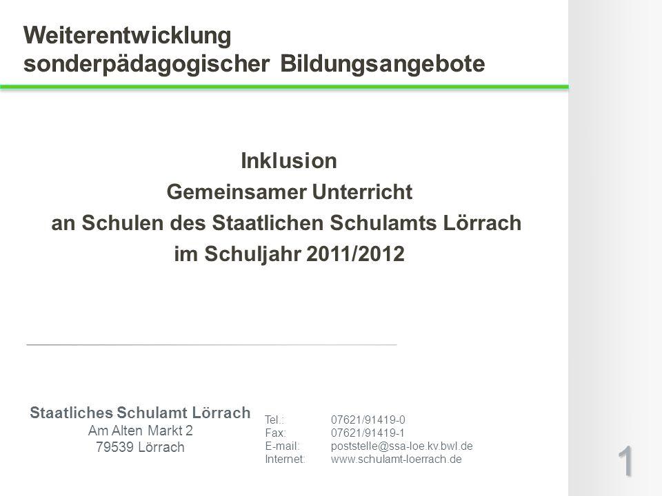 Staatliches Schulamt Lörrach Am Alten Markt 2 79539 Lörrach Tel.: 07621/91419-0 Fax: 07621/91419-1 E-mail: poststelle@ssa-loe.kv.bwl.de Internet:www.s