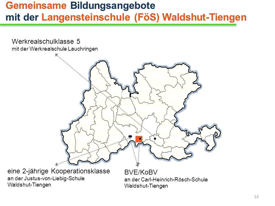 eine 2-jährige Kooperationsklasse an der Justus-von-Liebig-Schule Waldshut-Tiengen Werkrealschulklasse 5 mit der Werkrealschule Lauchringen BVE/KoBV a