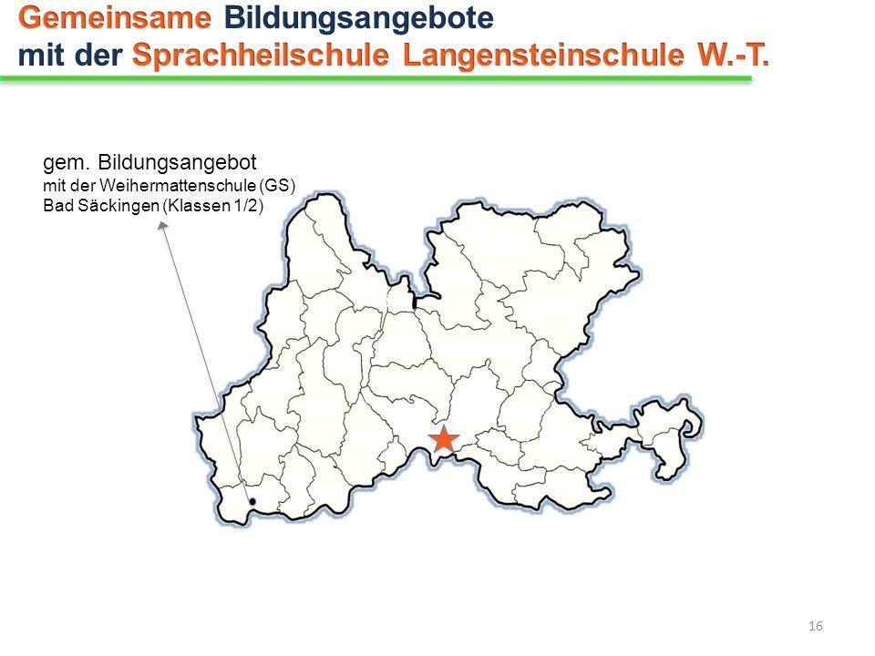 gem. Bildungsangebot mit der Weihermattenschule (GS) Bad Säckingen (Klassen 1/2) 16