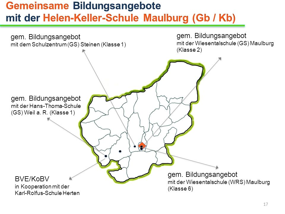 gem. Bildungsangebot mit der Hans-Thoma-Schule (GS) Weil a. R. (Klasse 1) BVE/KoBV in Kooperation mit der Karl-Rolfus-Schule Herten gem. Bildungsangeb