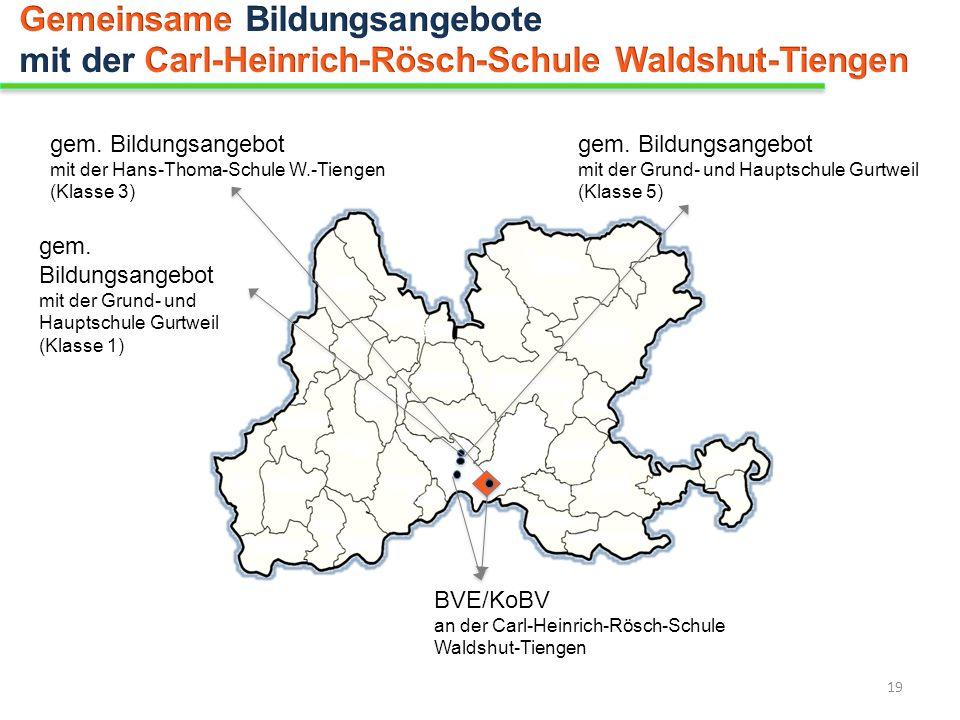 gem. Bildungsangebot mit der Hans-Thoma-Schule W.-Tiengen (Klasse 3) gem. Bildungsangebot mit der Grund- und Hauptschule Gurtweil (Klasse 1) gem. Bild
