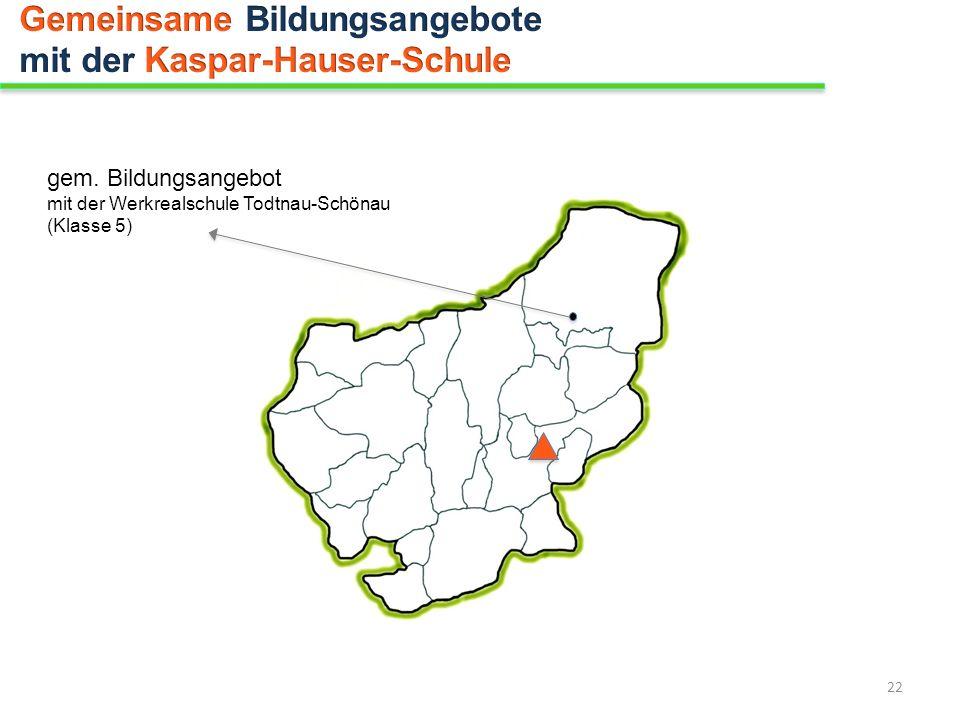 gem. Bildungsangebot mit der Werkrealschule Todtnau-Schönau (Klasse 5) 22