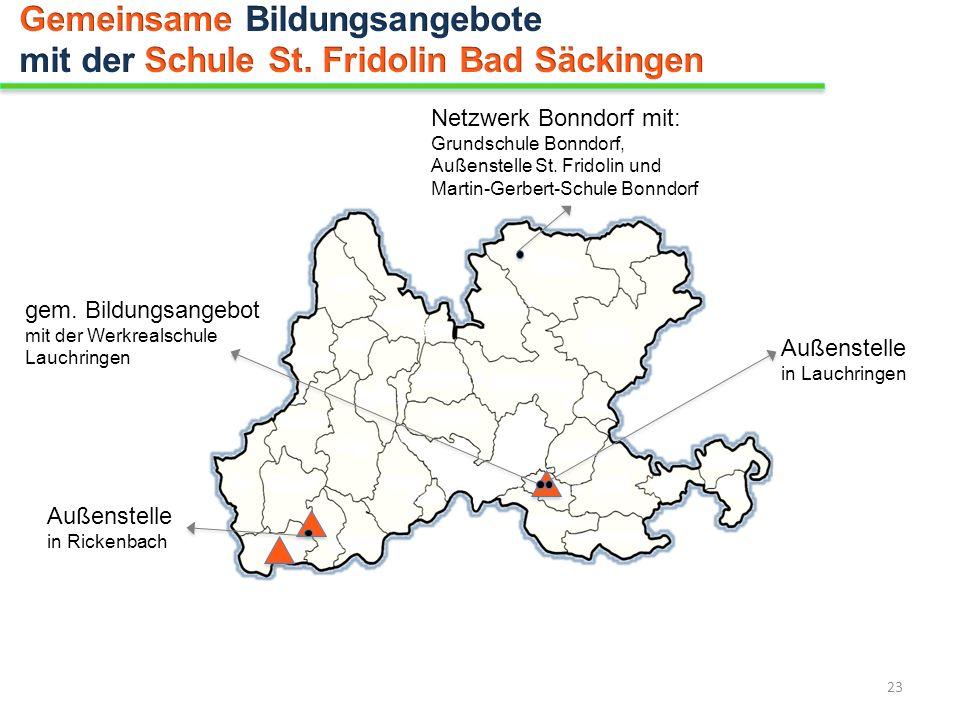Netzwerk Bonndorf mit: Grundschule Bonndorf, Außenstelle St. Fridolin und Martin-Gerbert-Schule Bonndorf gem. Bildungsangebot mit der Werkrealschule L