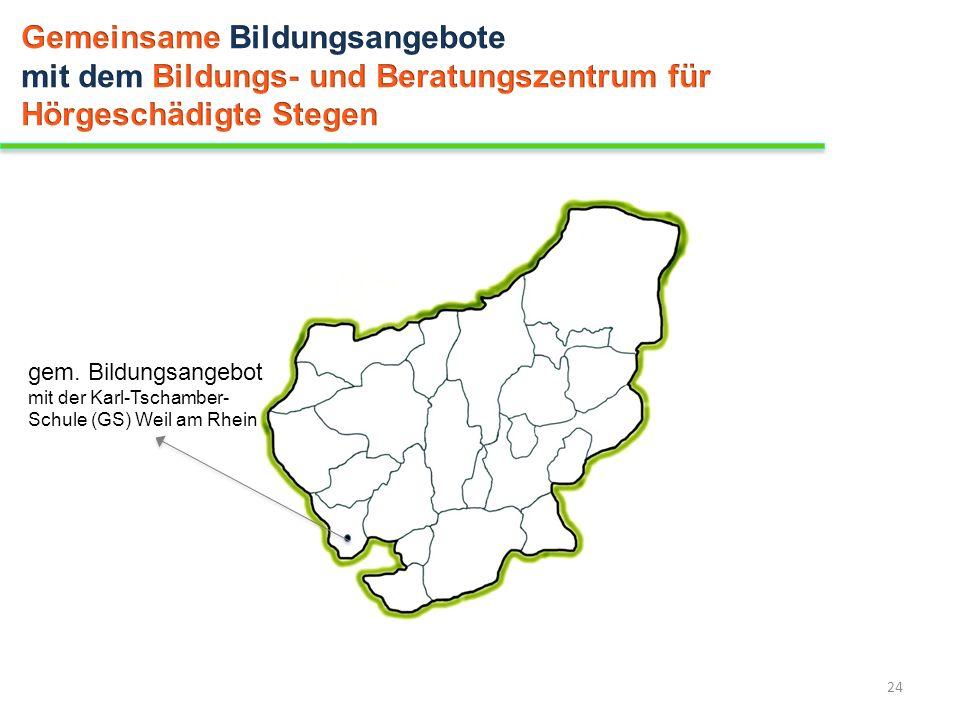 24 gem. Bildungsangebot mit der Karl-Tschamber- Schule (GS) Weil am Rhein