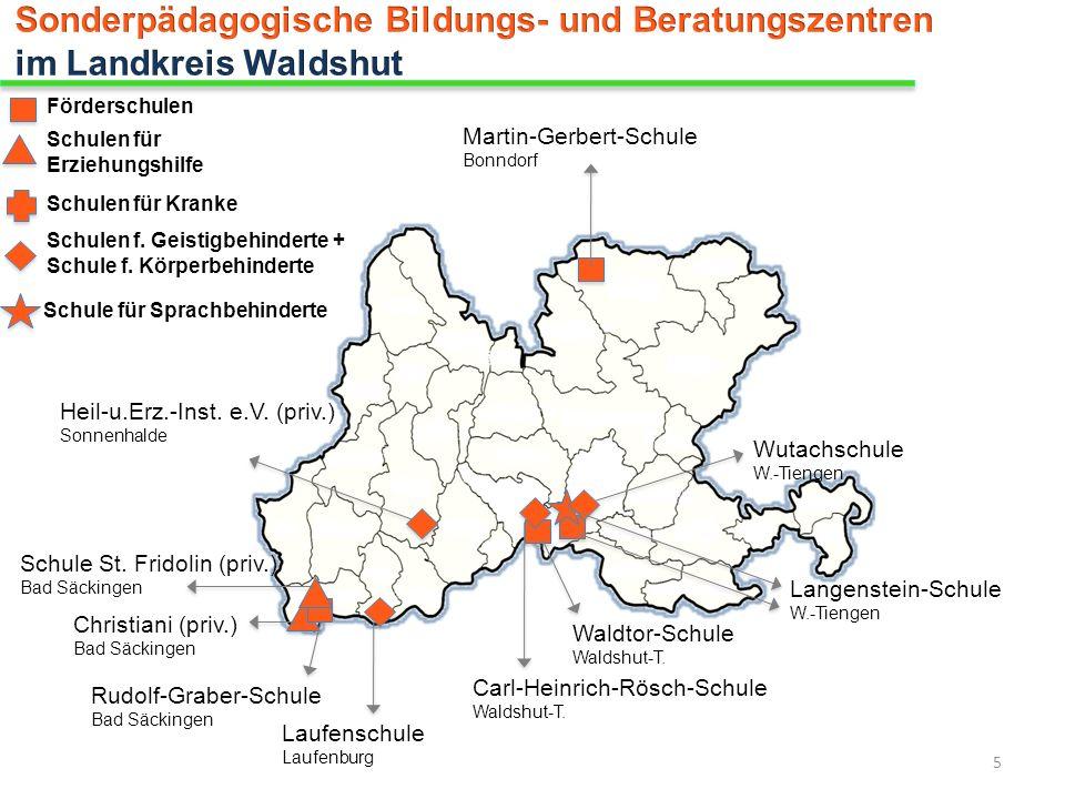Christiani (priv.) Bad Säckingen Förderschulen Schulen für Erziehungshilfe Schulen für Kranke Schulen f. Geistigbehinderte + Schule f. Körperbehindert