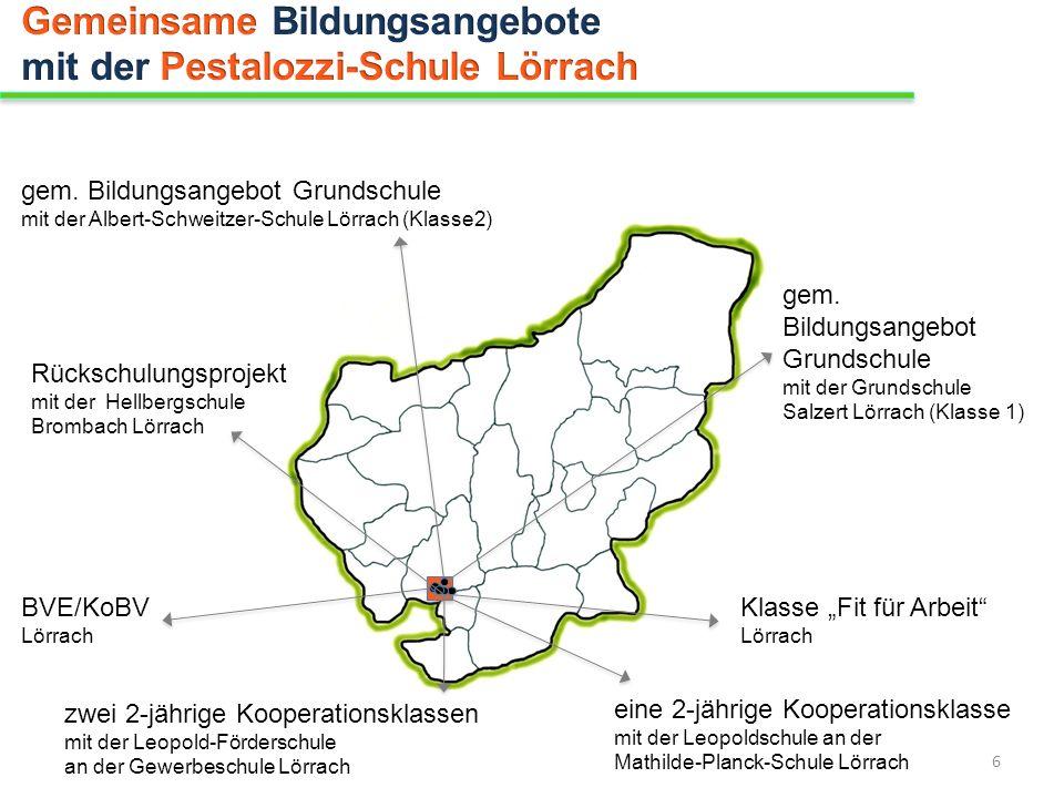 gem. Bildungsangebot Grundschule mit der Albert-Schweitzer-Schule Lörrach (Klasse2) gem. Bildungsangebot Grundschule mit der Grundschule Salzert Lörra