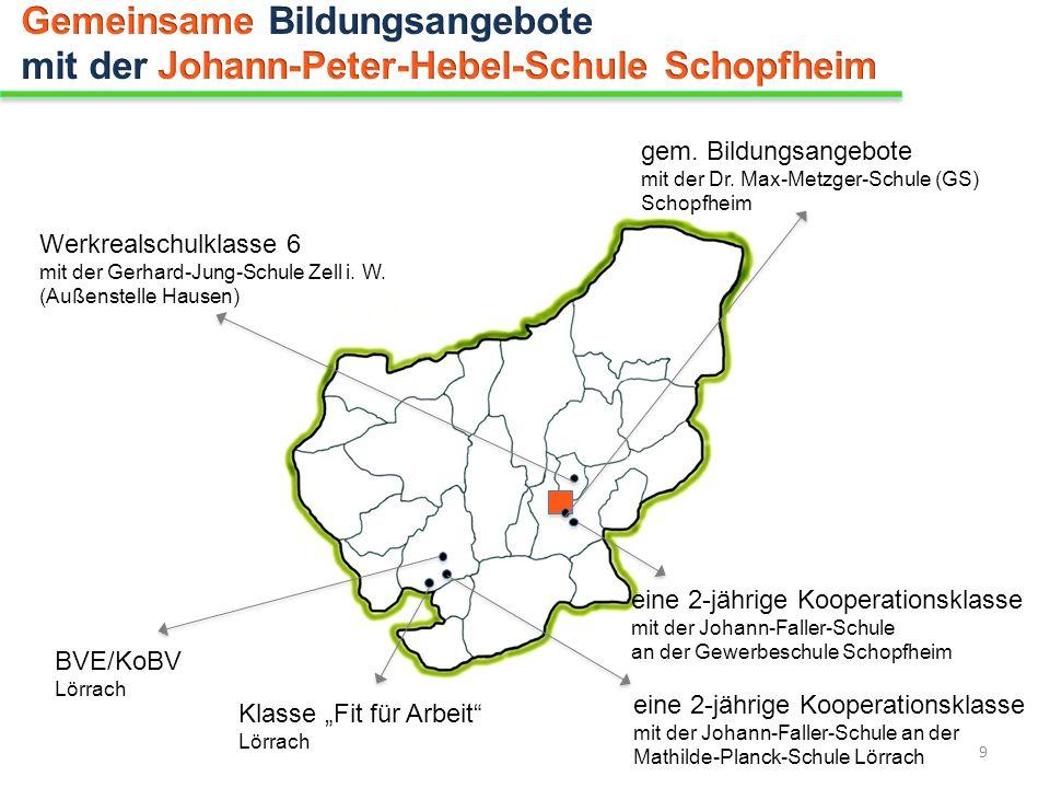 gem. Bildungsangebote mit der Dr. Max-Metzger-Schule (GS) Schopfheim Werkrealschulklasse 6 mit der Gerhard-Jung-Schule Zell i. W. (Außenstelle Hausen)