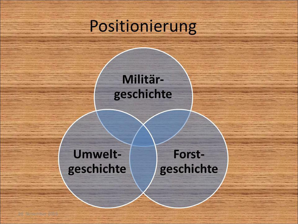 26. November 2013 Positionierung Militär- geschichte Forst- geschichte Umwelt- geschichte