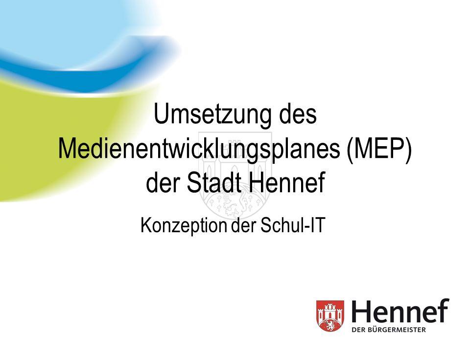 Inhalt 1.Medienentwicklungsplan 2005-2010 2.Technisches Konzept 3.Webbasierte Lernplattform 4.Support Stadt Hennef, IT-Abt., W.Rossenbach (MBA) 2