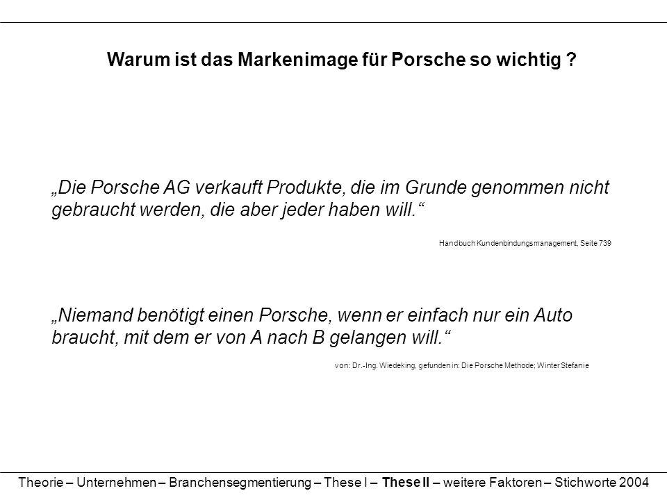 Warum ist das Markenimage für Porsche so wichtig ? Niemand benötigt einen Porsche, wenn er einfach nur ein Auto braucht, mit dem er von A nach B gelan
