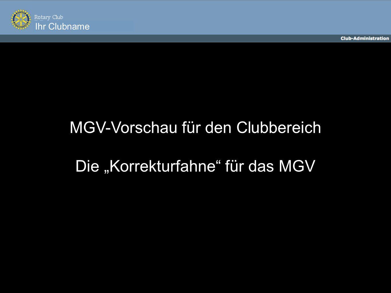 Ihr Clubname MGV-Vorschau für den Clubbereich Die Korrekturfahne für das MGV