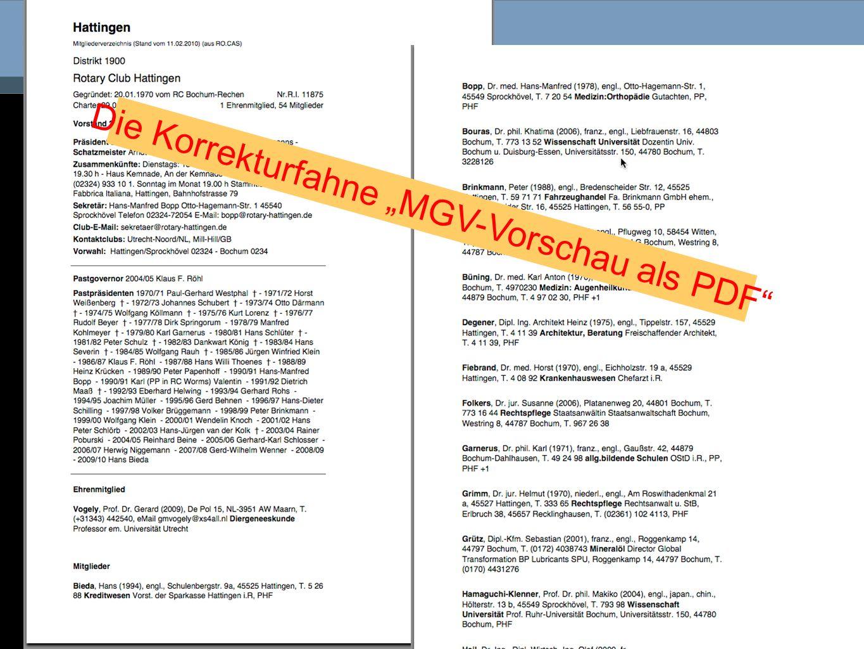 Die Korrekturfahne MGV-Vorschau als PDF