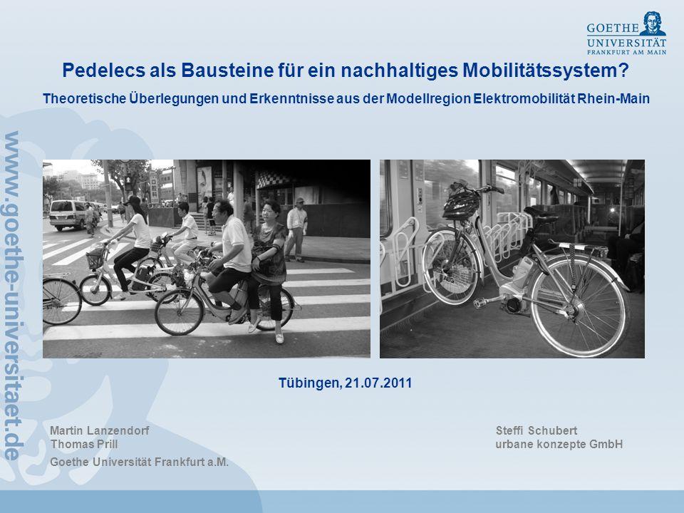 Pedelecs als Bausteine für ein nachhaltiges Mobilitätssystem? Theoretische Überlegungen und Erkenntnisse aus der Modellregion Elektromobilität Rhein-M