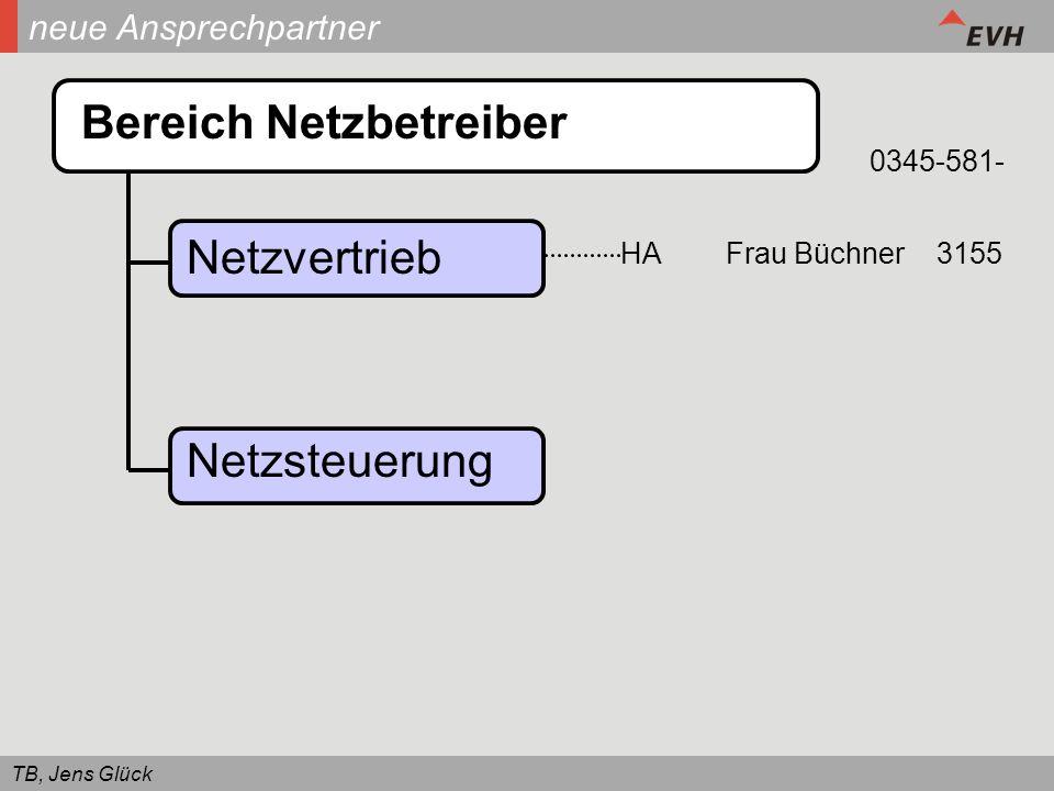 TB, Jens Glück neue Ansprechpartner Bereich Netzbetreiber Netzvertrieb Netzsteuerung HAFrau Büchner3155 0345-581-