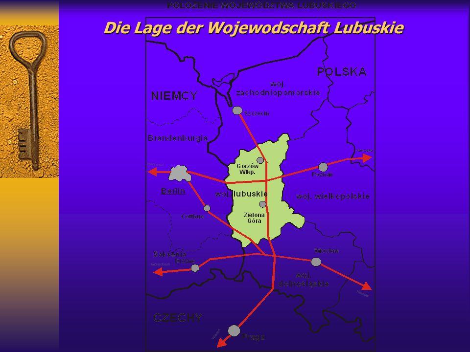 Die Lage der Wojewodschaft Lubuskie