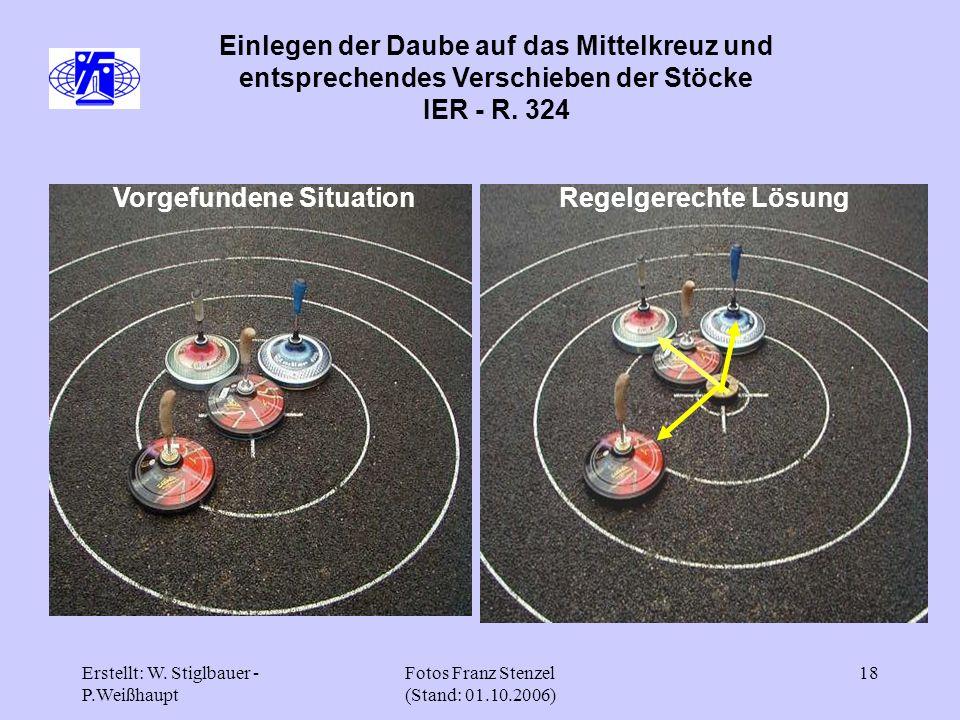 Erstellt: W. Stiglbauer - P.Weißhaupt Fotos Franz Stenzel (Stand: 01.10.2006) 18 Einlegen der Daube auf das Mittelkreuz und entsprechendes Verschieben