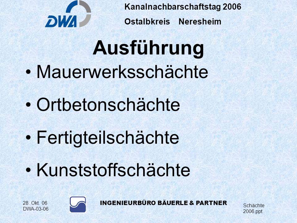 Kanalnachbarschaftstag 2006 Ostalbkreis Neresheim Schächte 2006.ppt 28.