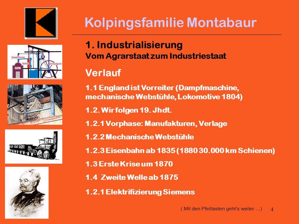 3 Kolpingsfamilie Montabaur 140 Jahre Gesellenverein/Kolpingfamilie Montabaur - Geschichte und Gegenwart eines Sozialverbandes Eine Kurzdarstellung in