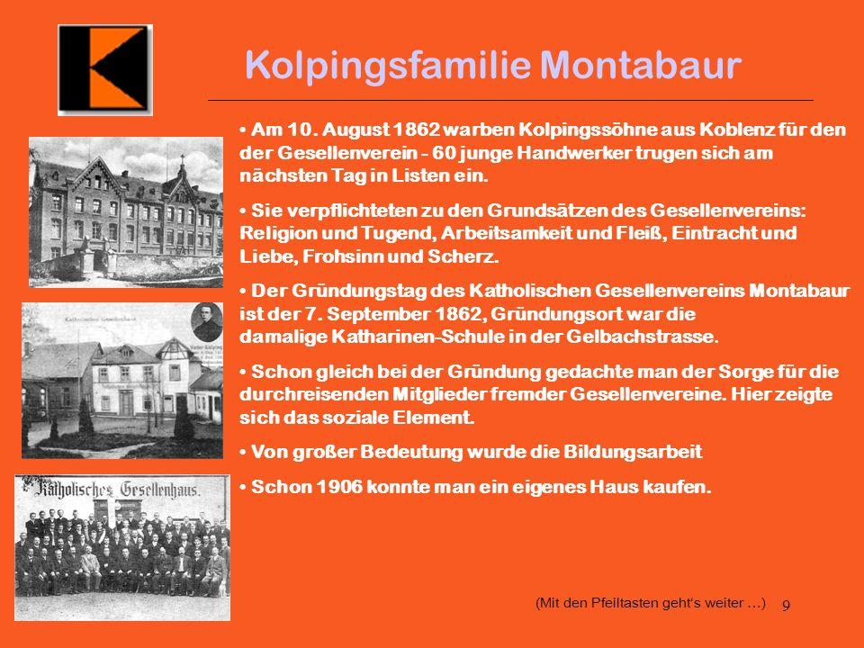 9 Kolpingsfamilie Montabaur Am 10.