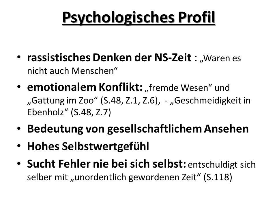 Psychologisches Profil rassistisches Denken der NS-Zeit : Waren es nicht auch Menschen emotionalem Konflikt: fremde Wesen und Gattung im Zoo (S.48, Z.