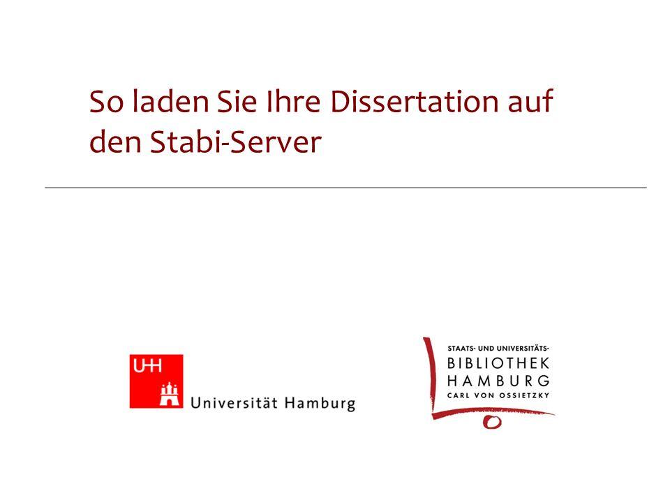 Online-Dissertationen So laden Sie Ihre Dissertation auf den Stabi-Server
